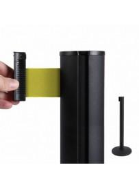 Bariéra černá, 2,7m výsuvný pásek žlutý