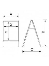 Zákaznický poutač Compasso C2 A2 - technické parametry