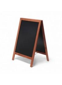 Reklamní dřevěné áčko s křídovou tabulí 55x85, světle hnědá