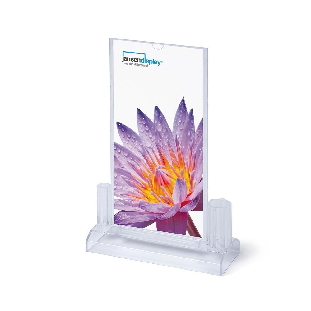 Jansen Display SCRITTO Plastový menu stojánek 100x200 mm pro příslušenství