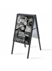 Reklamní áčko 500x700 mm, ostrý roh, profil 32mm, plechová záda, černý RAL9005