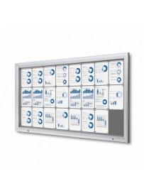 Uzamykatelná informační vitrína SCTF 24xA4 šedá