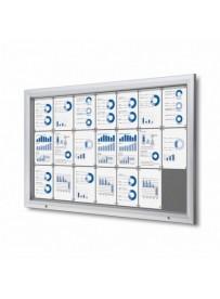 Uzamykatelná informační vitrína SCTF 21xA4 šedá
