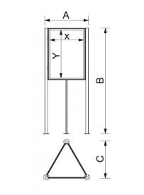 Tri-board A1 - rozměry