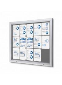 Uzamykatelná informační vitrína SCTF 15xA4 šedá