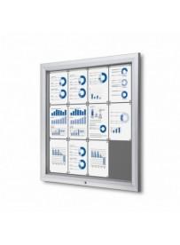 Uzamykatelná informační vitrína SCTF 12xA4 šedá