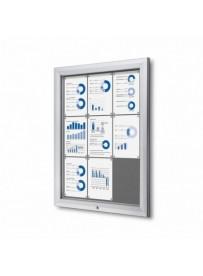 Uzamykatelná informační vitrína SCTF 9xA4 šedá