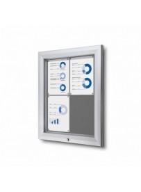 Uzamykatelná informační vitrína SCTF 4xA4 šedá