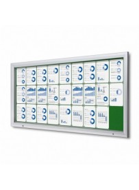 Uzamykatelná informační vitrína SCTF 27xA4 zelená