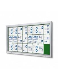 Uzamykatelná informační vitrína SCTF 24xA4 zelená