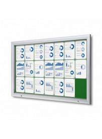 Uzamykatelná informační vitrína SCTF 21xA4 zelená