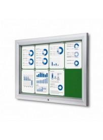 Uzamykatelná informační vitrína SCTF 8xA4 zelená