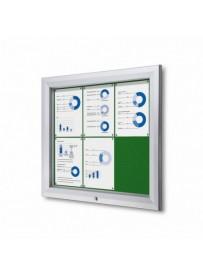 Uzamykatelná informační vitrína SCTF 6xA4 zelená