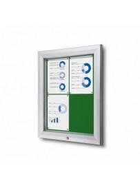 Uzamykatelná informační vitrína SCTF 4xA4 zelená