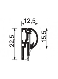 Sign System Snap tabulka 50x100 mm