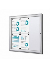 Informační vitrína Economy 9xA4, plechová záda, atest B1