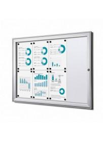 Informační vitrína Economy 8xA4, plechová záda, atest B1