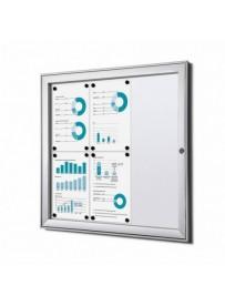 Informační vitrína Economy 6xA4, plechová záda, atest B1