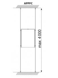 Lankový závěs podlaha-strop Appendo Pro Cable