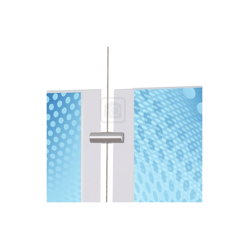 Oboustranný boční úchyt pro panely do 4 mm Appendo Pro Cable