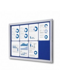 Informační vitrína 8xA4, modrá textilní záda