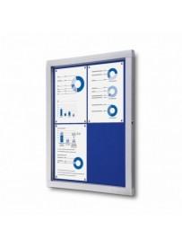 Informační vitrína 4xA4, modrá textilní záda