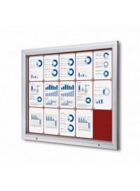 Uzamykatelná informační vitrína SCTF 15xA4 červená