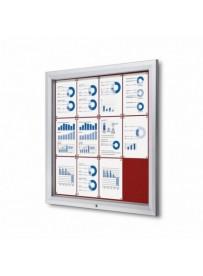 Uzamykatelná informační vitrína SCTF 12xA4 červená