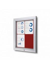 Uzamykatelná informační vitrína SCTF 4xA4 červená