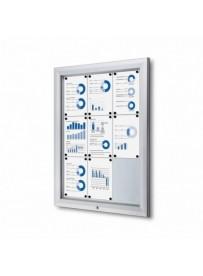 Venkovní vitrína typu T určená pro 4xA4, RAL9003, bílá