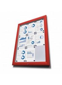 Venkovní vitrína typu T určená pro 24xA4 RAL 3020, červená