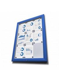 Venkovní vitrína typu T určená pro 12xA4 - barva RAL 5010 modrá