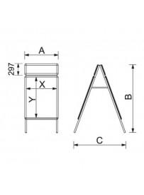 Zákaznický poutač s přídavným rámem A1