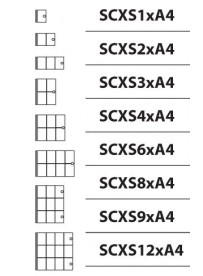 Vitrína XS interiérová 1xA4
