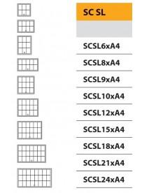 Vitrína SC SL s posuvným sklem 6xA4