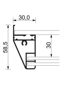 Vitrína SC SL s posuvným sklem a korkovými zády 6xA4