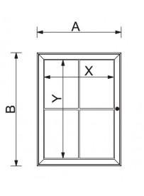Univerzální vitrína SC S 4xA4
