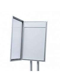 Uzamykatelná světelná menu vitrína 4xA4