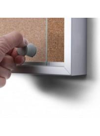 Interiérová vitrína 15xA4 SLIM