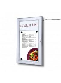 Venkovní menu vitrína 1xA4, LED lišta