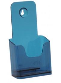 Stojánek na letáky formátu DL (1/3A4), neon modrý