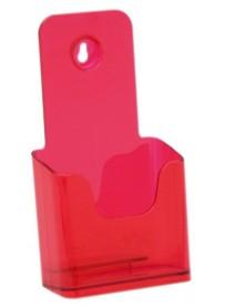 Stojánek na letáky formátu DL (1/3A4), neon červený