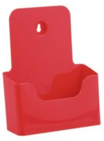 Stojánek na letáky formátu A5, červený