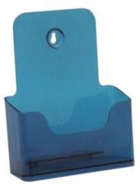 Stojánek na letáky formátu A5, neon modrý