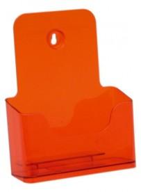 Stojánek na letáky formátu A5, neon oranžový