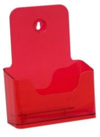 Stojánek na letáky formátu A5, neon červený