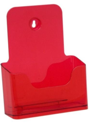 Jansen Display Stojánek na letáky formátu A5, neon červený