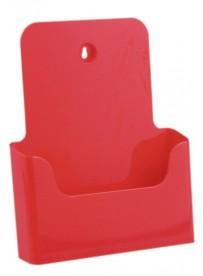 Stojánek na letáky formátu A4, červený