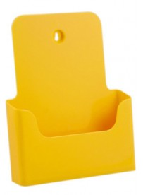 Stojánek na letáky formátu A4, žlutý