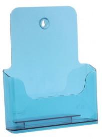 Stojánek na letáky formátu A4, neon modrý